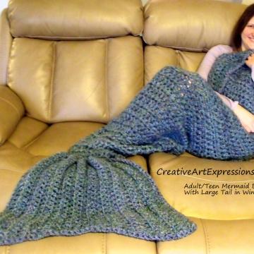 Mermaid Blanket Adult/Teen Large Fin in Windsor