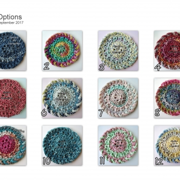 Rainbow Place Mat, Coasters , Napkin Rings Set, Crocheted Coasters, Round, Elegant, Large, Made to Order, Tie Dye Look, Bright, Cotton Coasters, Home Decor, Kitchen Decor,