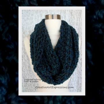 Creative Art Expressions Hand Crocheted Made To Order Bulky Infinity Scarf
