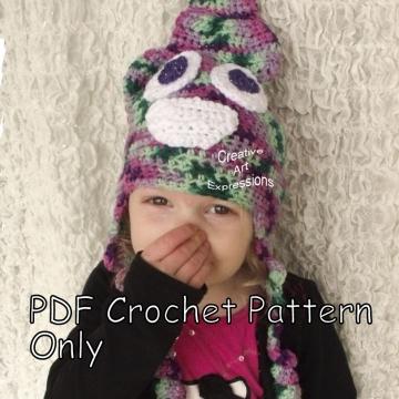 Poop Emoji & Unicorn Poop Emoji Hat Crochet Pattern, PDF Downloadable Pattern, Video Tutorials, Crochet Pattern, Hipster Hat Pattern, Child, Toddler, Adult/Teen Sizes