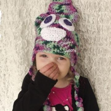 Ready to Ship, Purple, Green, Mint, & Pink Unicorn Poop Emoji Inspired, Toddler Crocheted Hat, Unicorn Poo Hat, Toddler Girl Gifts, Hipster Hat, Crocheted Hat, Handmade