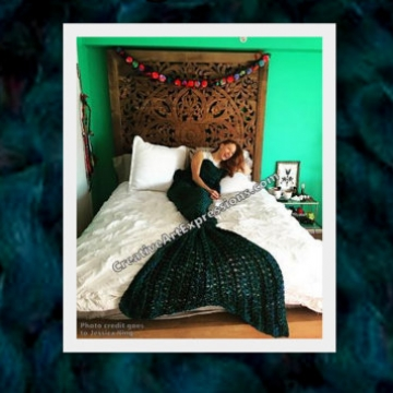 Creative Art Expressions Hand Crocheted Made To Order Adult & Teen Mermaid Blanket