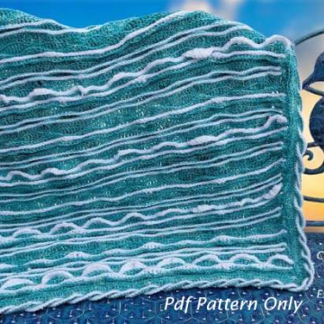 Sea Breeze Baby Blanket & Lap Blanket Crochet Pattern Collection, PDF Downloadable Pattern, Video Tutorials, Crochet Pattern, Mermaid Crochet, Ocean Crochet, Ocean Blanket pattern, Coastal Crochet Pattern