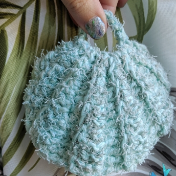 Seashell Scrubby Crocheted, Set of 3 Scrubbies, 12 color choices, Made to Order, Mermaid Crochet, Ocean Crochet, Novelty Scrubby, Kitchen Scrubby, Handmade, Cotton & Scrubby Yarn Scrubby,