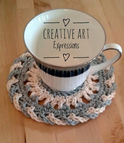 4 Cotton Gray & White Coasters