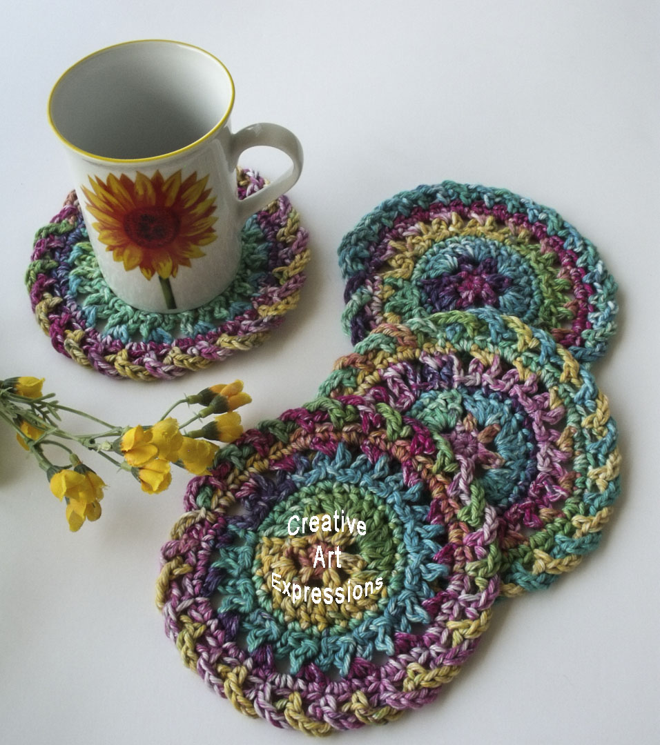 Bright Rainbow Coasters