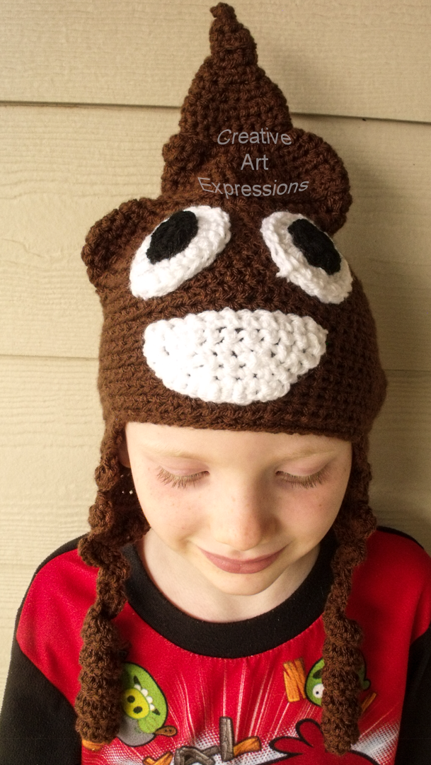 Child Brown Poop Emoji Hat