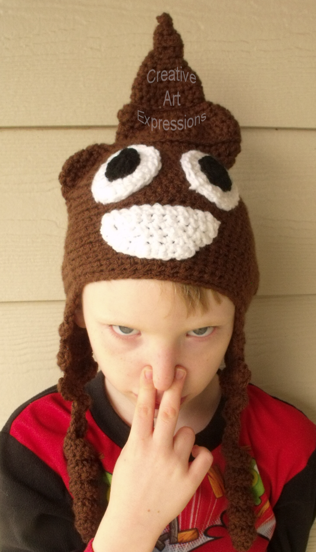 Brown Poop Emoji Child Hat