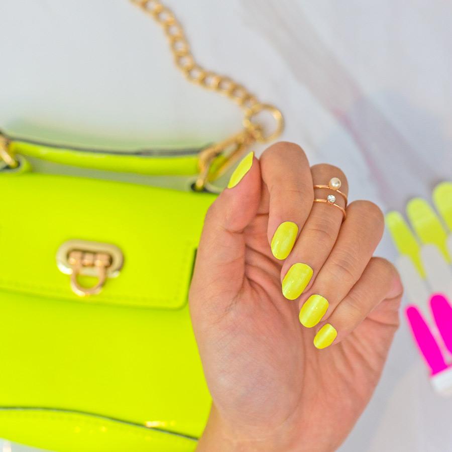 Bright Yellow Nail Polish Strips