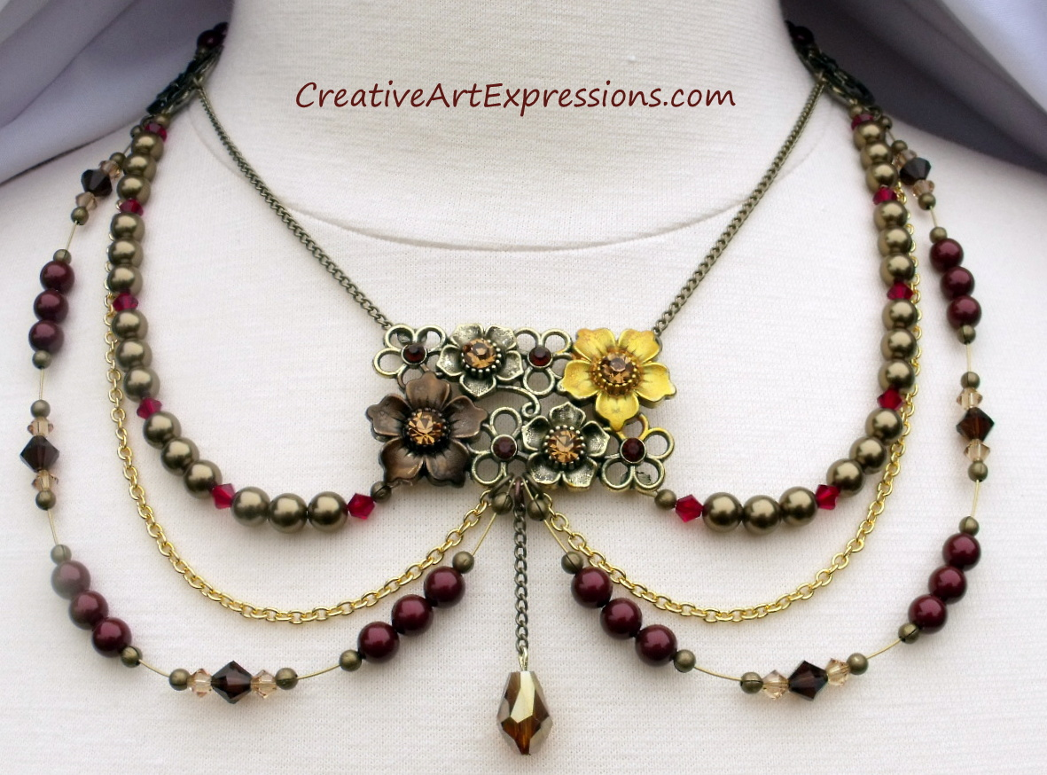 Creative Art Expressions Handmade Pearl Crystal Spring Chic