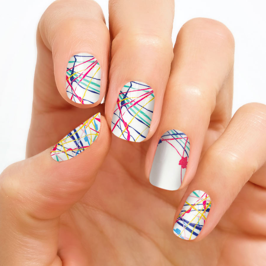 Splatter Paint Nail Polish Strips