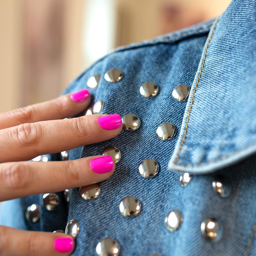 Hot Pink Nail Polish Strips