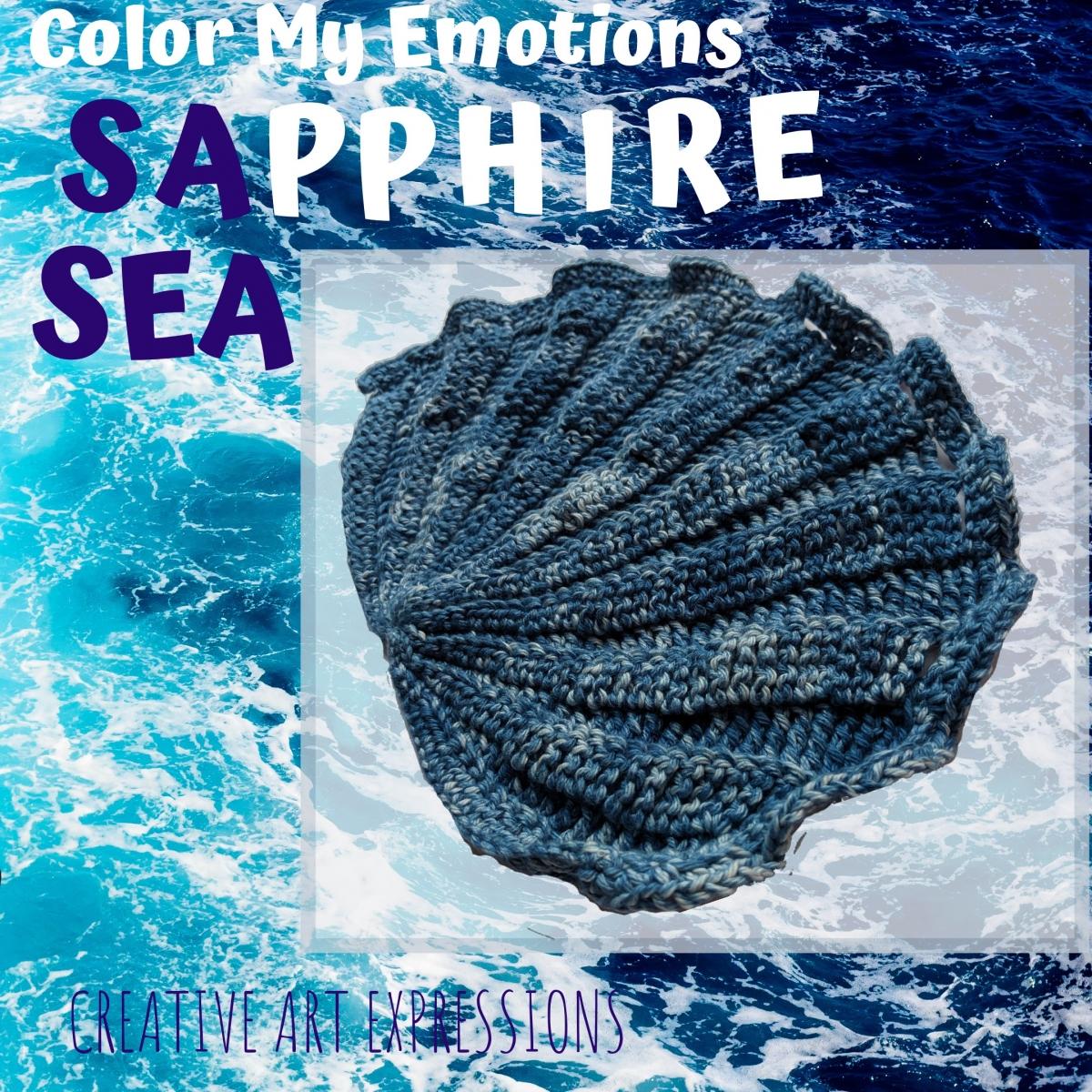 Crocheted Seashell Towel Sapphire Sea Poem Inspiration