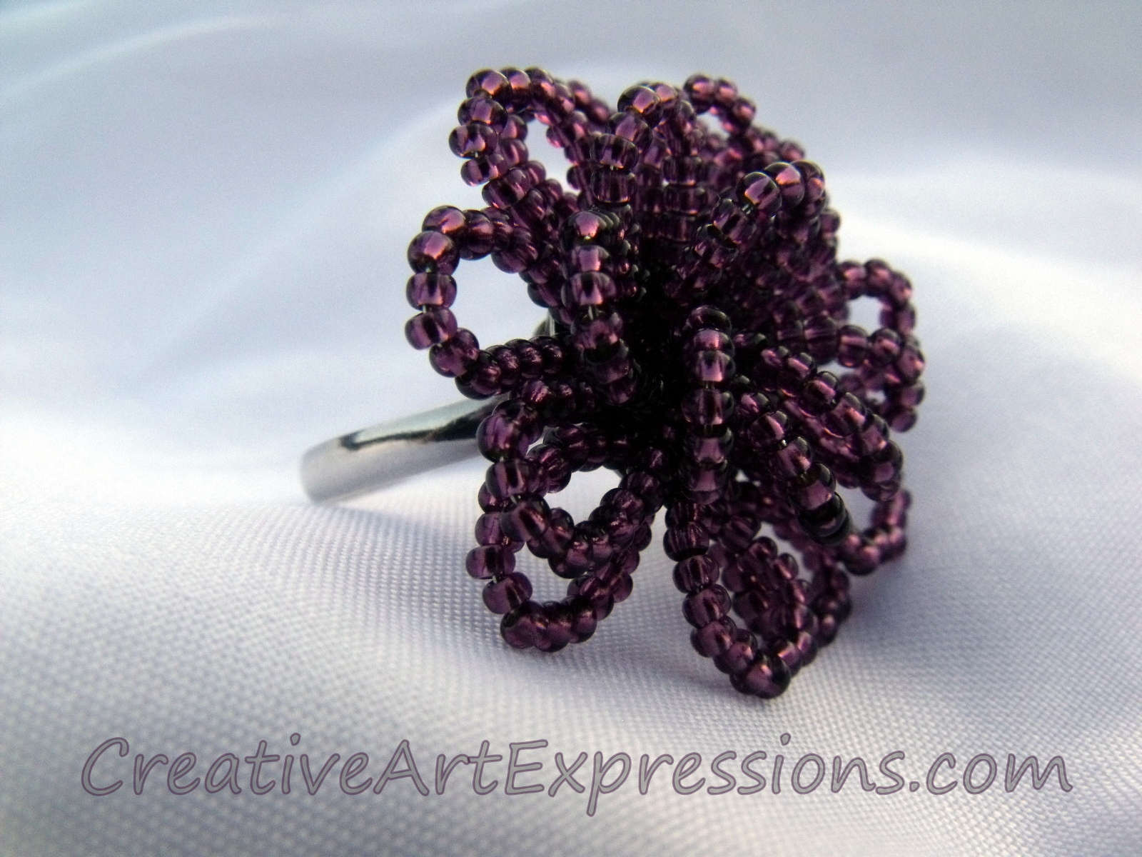 Creative Art Expressions Handmade Amethyst Seed Bead